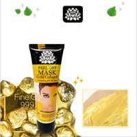 Wholesale Face Lift Gold - Free Shipping - 24k Gold Collagen Face Lifting Mask Peel Off Facial Whitenin
