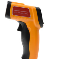 Wholesale Mini Laser Thermometers - Mini Handheld LCD Infrared Thermometer -50~420C Accuracy Laser Temperature Gun Point Meter Emissivity:0.1-1.00 Adjust GM300E