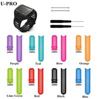 Wholesale Gps Forerunner - Wholesale- Silicone Watch Bands Strap for Garmin Forerunner 910XT GPS Triathlon Running Swim Cycle Training Sports Watch