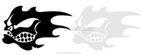 Wholesale Fish Bones Decals - Car stickers funny Fish Fear Me Skull Bones Body stickers Locomotive Personalized decals Reflective film carved car stickers