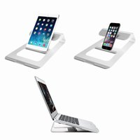 Wholesale Laptop Docking - Laptop Stand Luxury Aluminum Notebook Dock Holder Heat Dissipation for Macbook Air Pro iPhone 6s 7 iPad Mobile Phone Accessories