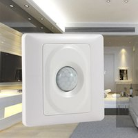 Novo PIR Infrared IR Sensor de Movimento Corporal Auto Wall Mount Control Salvar Energia Módulo Automático Sensor de Luz Led Light Switch