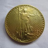 Wholesale Gold Twenty Dollar Double Eagle - 1908 USA $20 Gold-Plated Saint Gaudens Twenty Dollars or Double Eagle Coins COPY