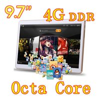 "Wholesale Android Inch Mini Tablet - 9.7 inch Tablet pc Octa Core MTK android 5.1 4G LTE phone call Dual Sim 8MP Camera 4GB+64GB IPS GPS pad phablets tablet mini pc 7"" 9"