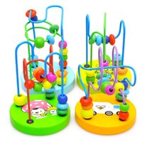 Wholesale Toy Maze Games - Wholesale- Children Kids Baby Colorful Wooden Mini Around Beads Maze Educational Game Toy FJ88