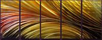 ingrosso arti contemporanee di metallo-100% Handcraft Alluminio Metal Wall Art Pittura astratta moderna contemporanea Scultura Pittura Decor pronto ad appendere