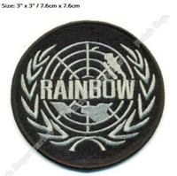 Wholesale cosplay six online - 3 quot RAINBOW SIX OPERATOR Logo PATCHES Movie TV Game Series Cosplay Costume Embroidered Emblem iron on applique hat Badge