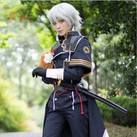 Wholesale Carnival Costumes Online - OISK Quality Nakigitsune Cosplay Japanese Anime Touken Ranbu Online Nakigitsune Cool Polyester Costume With Tie Gloves & Mask