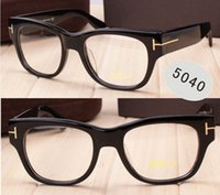 Wholesale Solid Frame Glasses - Luxury brand glasses Prescription TF5040 eyeglasses frame vintage style men brand eyeglasses optial with original case free shipping.