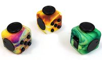Fidget Giocattolo Fidget Cube Camouflage Blue allevia ansia e stress squeeze Fun Magic Cube Giocattoli Star Purple Wood Fast Shipping