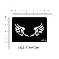 Wholesale feather kits - Wholesale- Disposable tattoo stencil, detachable, artistic creation, fashionable, skin available, tattoos,Cartoon, feathers, wings,878