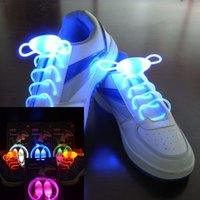 meninos de disco venda por atacado-(2 pcs = 1 par) Meninos Meninas Crianças Acender LED Shoelaces Partido Flash Shoe Laces Sapato Cordas Led Brinquedos