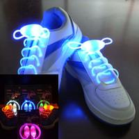 cordones de los niños al por mayor-(2 piezas = 1 par) Niños Niñas Niños Iluminar LED Cordones LED Fiesta Flash Disco Cordones de zapatos Cadenas de zapatos Juguetes Led