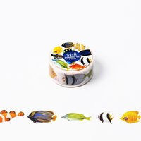 Wholesale Decoration Fish Stickers - Wholesale- 2016 2cm*8m Colorful Fish washi tape DIY decoration scrapbooking planner masking tape adhesive tape label sticker stationery