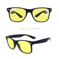 Wholesale Glass Night Vision - Wholesale-Unisex HD Lenses Sunglasses Night Vision Goggles Driving Glasses UV Protection