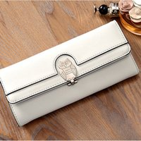 YOUYOU MOUSE Small Fresh Lovely Owl Femmes Wallet Étudiants 2 Fold Solid Ladies Purse Long PU Lether Fashion Card Holder Wallet