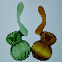pics wasser großhandel-Neue Bubbler Glaspfeifen zum Rauchen 4 Zoll Länge 60g / pic farbige Bubbler Hi-Q Glas Wasserleitungen