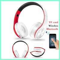 katlanır akıllı telefon toptan satış-Kablosuz Bluetooth Spor Kulaklık TF Kart MP3 Ağır Bas Stereo Kulaklık Smartphone Evrensel Katlanır Bluetooth Kulaklık Kulaklık Kulaklık