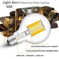 Wholesale led bulbs online - LED Filament Globe Light Bulb Lead Light W W LED Light Bulb G80 Energy Saving Warm White Dimmable E26 E27 B22