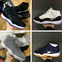 Wholesale Drop Ship Camping - Drop shipping 2017 Retro 11 Basketball Shoes Men 11s Olympic Gold Bred Space Jam 11s Concords XI Moon Landing Athletics Sneakers size 40-47