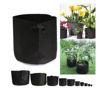 Wholesale Grow Pots Wholesale - Non Woven Grow Bag Plants Fabric Pots Plant Pouch Root Container Aeration Flower Pot Garden Bag Planters Pouch Root Container KKA1723