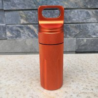 Wholesale Family Cases - Mini Aluminum Waterproof Tank Seal Bottle Case Container Holder EDC Box CNC Black Orange Green Color 50pcs A291