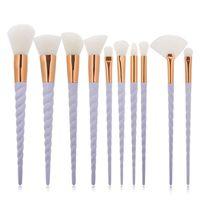 Wholesale Market Wood - latest cosmetic products in Market makeup brush set Sixplus 10pcs wood handle rose gold professional makeup brush kit