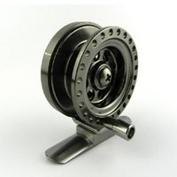 Wholesale Deep Reel - Wholesale Deep Sea Mini Full Metal Aluminum 5cm Fly Fishing Reel Ultra-light Winter Fishing Tackle Ice Reels Free Shipping
