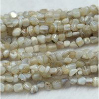 """Wholesale Natural Lace Agate - Wholesale Natural Genuine White Gray Lace Agate Small Nugget Free Form Fillet Irregular Pebble Beads Fit Jewelry 15"""" 03944"""
