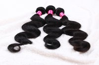 Wholesale Grade 5a Malaysian Remy Hair - 5a grade BW remy Hair Weave 14-24'' 1b# natural color 100g pcs 3PC LOT Malaysian Virgin Human Hair Extension Double Weft dhl free Shipping