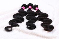 malezya 5a renkli saç toptan satış-5a sınıf BW remy Saç Örgü 14-24 '' 1b # doğal renk 100 g / adet 3 ADET / GRUP Malezya Virgin İnsan Saç Uzatma Çift Atkı dhl ücretsiz Kargo