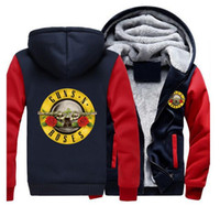 Wholesale Tattoo S Guns - free delivery Hooded Sweatshirts Guns N 'Roses New and New Five-Dimensional Men's Tattoo Sweat Sweater Sweat