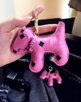 Wholesale Leather Toy Animals - 2018 Charms Keychain Fashion Dog Backpack Chain Pendant Creative Unisex Pu Animal backpack Key Chain Baby Gift Toy