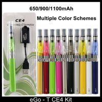 Wholesale Ego T Mt3 Evod - eGo T CE4 E cigarette e cigs kit 650mah 900mah 1100mah EGO-T battery With CE4 Tank VS EVOD MT3 Vision Spinner