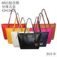 Wholesale Designer Leather Travel Bags - Fashion Women M Bags Handbags PU M Korse Leather Famous Jet Set Travel Saffiano Famous Brand Designer Tote Lady MICHAEL Female G Bags 6821a