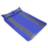 automatische matratze großhandel-Großhandels-zwei Personen-automatische aufblasbare Matratzen-Schlafenmatten-Feuchtigkeits-Auflage, die dickere Matratzen-doppelte Matratzen-kampierende Auflage verbreitert