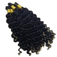 Wholesale European Wave Bulk Human Hair - Deep Curly Wave Bulk Hair For Braiding 3Pcs Lot 150gram Afro Deep Curly Wave Human Hair For Braiding Bulk No Attachment Crochet Braids