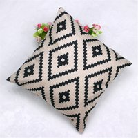Wholesale cheap cotton pillows for sale - Geometric Argyle Linen Throw Pillow Case Cushion Cover cheap cm u6523 DROP SHIP