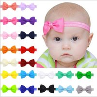 Baby Girls Ribbon Bow Headbands Baby Bowknot Эластичные аксессуары для волос Дети Hairbands Fashion Princess Headdress