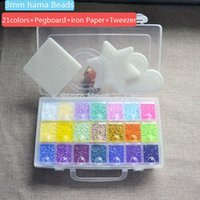 Wholesale Perler Beads Mini - Wholesale- 3mm Mini Hama Perler Beads(10,500 + 4 Pegboards +21 Colors ) Good Grade EVA