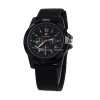 Wholesale Sport Straps For Glasses - New Arrivals Luxury Mens Military swiss Watch Swiss Army watches logo Nylon Strap Quartz Movement SPORT Wristwatch For MEN
