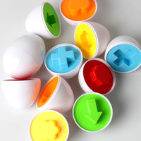Wholesale smart education toys for sale - Group buy Essential egg set Learning Education toys Mixed Shape Wise Pretend Puzzle Smart Baby Kid Tool Toys For Children Lowest Price