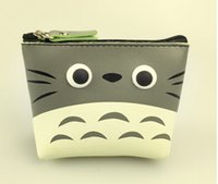 Wholesale Totoro Hand Bag - Wholesale- Kawaii TOTORO PU 10CM Coin Purse Wallet Pouch Case BAG ; Lady's Pocket Coin Bags Pouch ; Hand KEY Case BAG Handbag