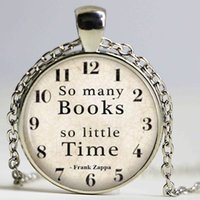 Wholesale Quotes Books - Book Necklace Glass Dome Necklace Frank Zappa Quote Pendant Literacy Teacher Librarian Jewelry Gift