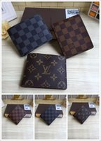 Wholesale Men Wallet China - Orignal Quality LOUIS Men Famous Brand Vuitton Womans Men Wallets Fashion Men Purse Luxury Brand Carteras With Orignal Box
