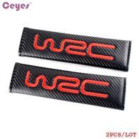 Wholesale Padded Belt - Car Accessories Shouder Pads Carbon Fiber Safety Belt Cover for WRC Racing Seat Belt Cover Car Styling 2pcs lot