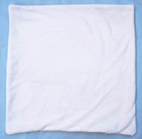 Wholesale Plain Pure White Color Pillow Case DIY Blank Cushion Cover with Zip Short Plush Pillow Case for Custom