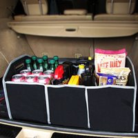 Wholesale Folding Trunk Organizer - Extra Large Car Auto Trunk Organizer With 3 Compartments Simple Folding Flat, lightweight, easy to carry and clean