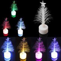 UK led fiber tree - Colorful LED ABS Fiber Optic Nightlight Cute Mini Christmas Tree Lamp Light Children Xmas High Brightness LEG_73U