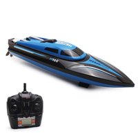 Wholesale Rc Remote Screen - Wholesale- High Speed RC Boat H100 2.4GHz 4 Channel 35km h Racing Remote Control Boat with LCD Screen Toys for Children
